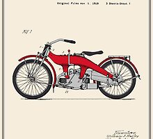 Motorcycle Patent - Colour by FinlayMcNevin