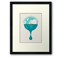 H2O *every drop counts Framed Print