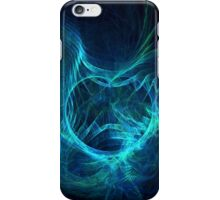 Ghostly Blue Fractal iPhone Case/Skin