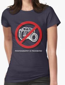 No Photos Please Womens Fitted T-Shirt