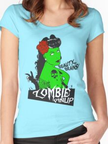Zombie Pinup #2 Women's Fitted Scoop T-Shirt