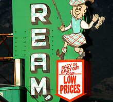 Reams Grocery Store Sign by Ryan Houston