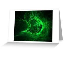 Green Fractal Greeting Card
