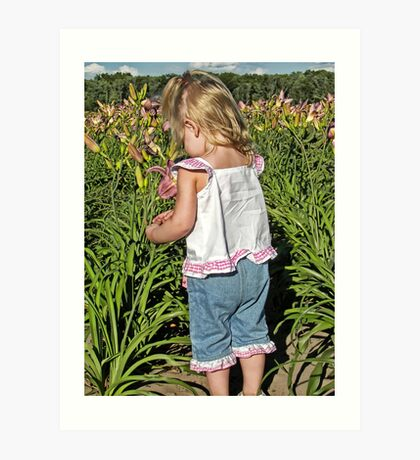 Little Lily Picker Art Print