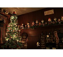 Old-Fashioned Colonial Christmas Holiday Photographic Print