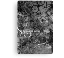 Bicycle sculpture, Seldom Seen Canvas Print