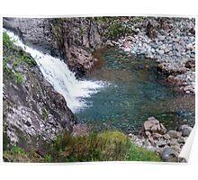 Waterfall in Glen Coe Poster