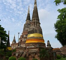 Buddhist Stupa with an Orange Ribbon by Christian Eccleston