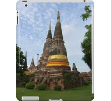 Buddhist Stupa with an Orange Ribbon iPad Case/Skin