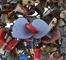 Love Locks in Fisheye by Christian Eccleston
