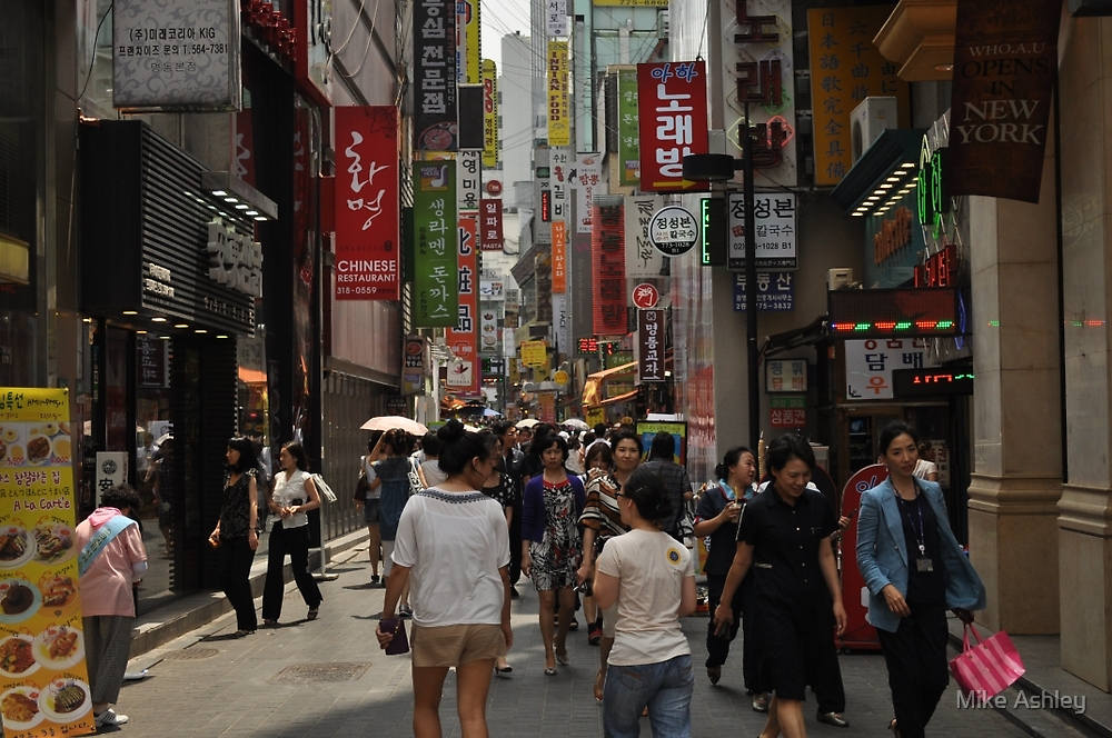 Myeondong Market in Seoul Crowded by Christian Eccleston