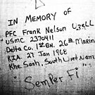 TRIBUTE TO PFC FRANK NELSON UZELL by DarrellMoseley