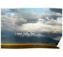 Mountains East of Springville from Provo Airport Poster