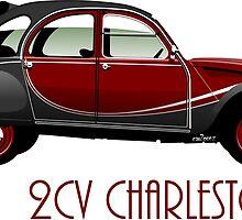 Citroën 2CV Charleston red/black by car2oonz