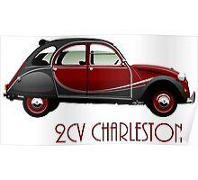 Citroën 2CV Charleston red/black Poster