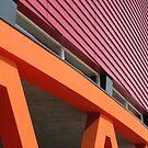 orange building frames by Giuseppe Moscarda