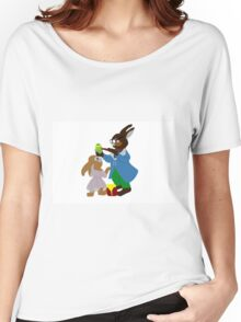 easter bunny school Women's Relaxed Fit T-Shirt