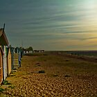 Beach Huts at Sunset by Eugene Francis Cummings