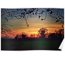 Sunset Sihouettes Poster