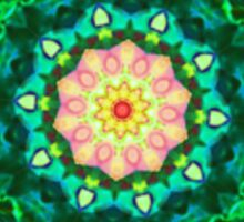Green Kaleidoscope Mandala Sticker