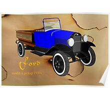 Ford model A pick-up 1930s Poster