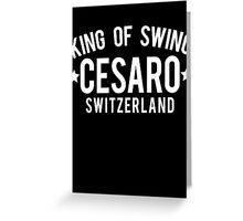 King Of Swing Greeting Card