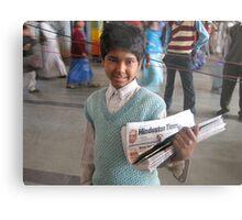 Selling newspapers Metal Print
