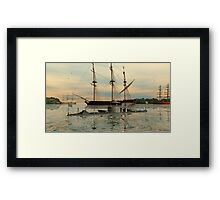 USS Monitor Framed Print