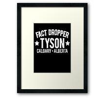 Fact Dropper Framed Print