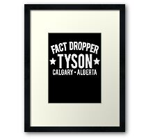 Fact Dropper Framed Print