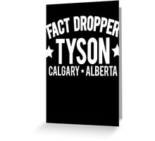 Fact Dropper Greeting Card