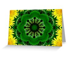 Dandelion Kaleidoscope Mandala Greeting Card