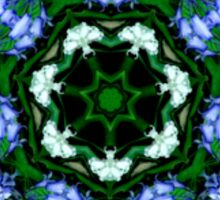 Bluebell Flower Kaleidoscope Mandala Sticker