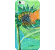 Sunflower bursting into life iPhone Case/Skin