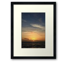 Milford On Sea Sunset #1970 Framed Print