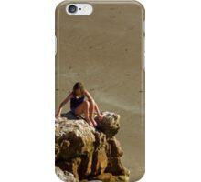 Girl On The Rocks, Compton Bay iPhone Case/Skin