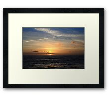 Milford on Sea Sunset #1978 Framed Print