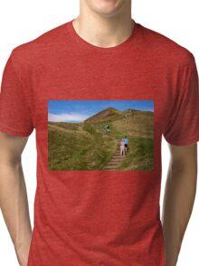 Walking Up Mam Tor Tri-blend T-Shirt