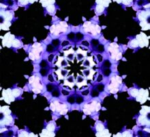 Ultraviolet Floral Kaleidoscope  Sticker