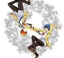 Angel Beats - Yuzuru Otonashi & Hideki Hinata by IzayaUke