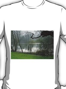 Pond near Home Farm, Ilam T-Shirt