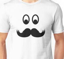 Smiley Mustache Unisex T-Shirt