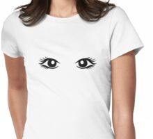 Woman eyes Womens Fitted T-Shirt