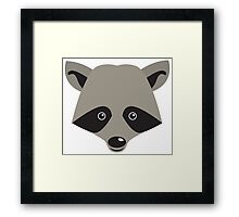 Super cute racoon face Framed Print