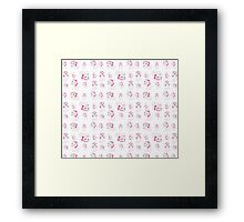 Marie, No Outline Pattern - The Aristocats Framed Print