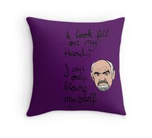 I can only blame myself Throw Pillow