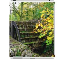 Old Mill and Water Wheel, Miller's Dale iPad Case/Skin