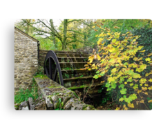 Old Mill and Water Wheel, Miller's Dale Metal Print