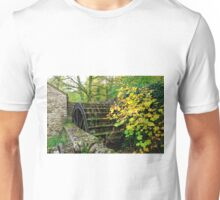 Old Mill and Water Wheel, Miller's Dale Unisex T-Shirt