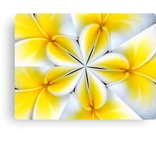 Frangipani Kaleidoscope Canvas Print